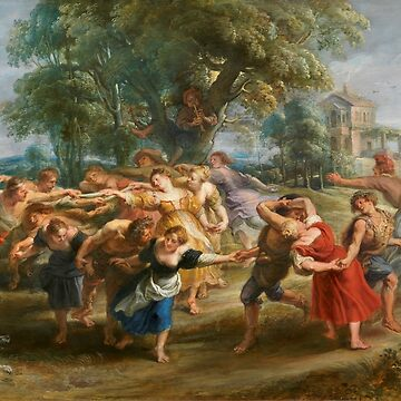 Vintage Peter Paul Rubens The Dance of the Villagers 1630 by AllVintageArt