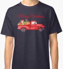 Christmas Vintage Red Pickup Truck with Presents Classic T-Shirt