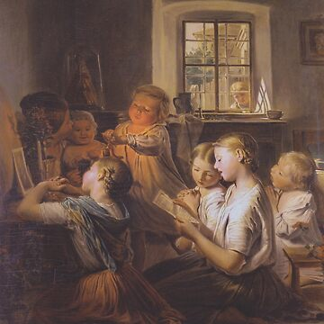 Singing children-Ferdinand Georg Waldmüller by LexBauer