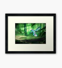 Archaeopteryx and Prey Framed Print
