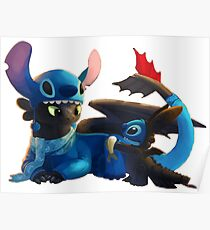 Toothless and Stitch Poster