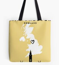 MANCHESTER ENGLAND LOVE CITY SILHOUETTE SKYLINE ART Tote Bag