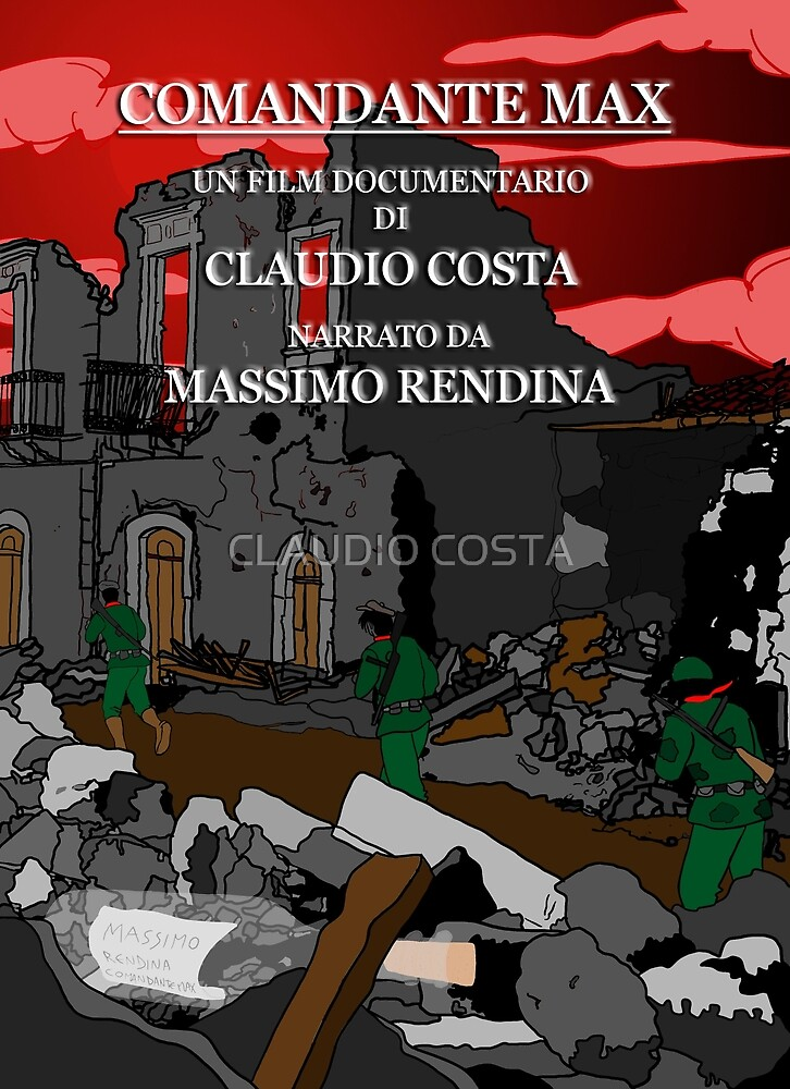 """MOVIE POSTER 7 """"Comandante Max"""" by CLAUDIO COSTA"""