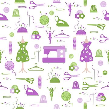 Sewing and needlework seamless pattern. by aquamarine-p