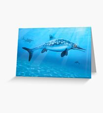 Ophthalmosaurus - Extinct Marine Reptile Greeting Card