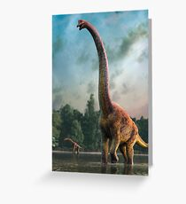 Artwork of Giraffatitan / Brachiosaurus Greeting Card