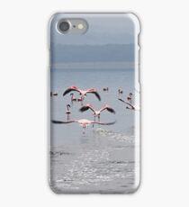 Take Off !  Flamingos at Lake Nakuru, Kenya iPhone Case/Skin