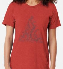 Topographic Map 03 Tri-blend T-Shirt