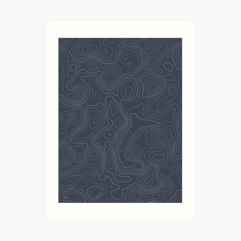 Topographic Map 03 Art Print