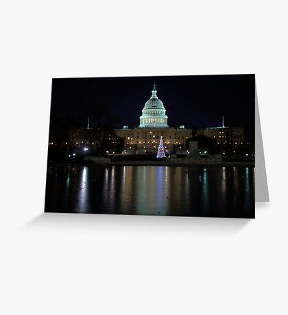 U.S. Capitol Building at Night Greeting Card