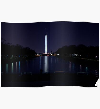 Nighttime View of the Washington Monument Poster