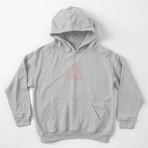 Topographic Map 04 - Living Coral Kids Pullover Hoodie