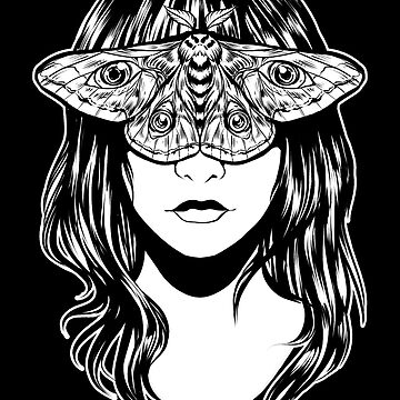 Moth Eyes Monochrome by retkikosmos