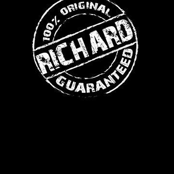 100% Original RICHARD Guaranteed T-Shirt Funny Name Tee by VKOKAY