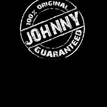 100% Original JOHNNY Guaranteed T-Shirt Funny Name Tee by VKOKAY