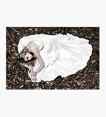 Beautiful woman in wedding dress Photographic Print