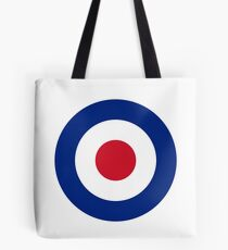 Royal Air Force Roundel |  A circular red white blue identification mark Tote Bag