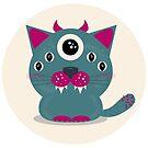 Alien monster cat by purplesparrow