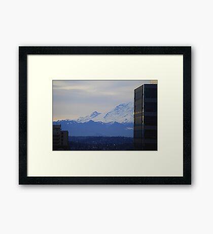 Mt. Rainier from Seattle Framed Print
