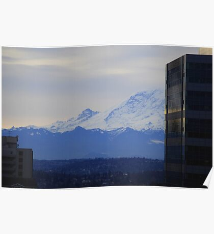 Mt. Rainier from Seattle Poster