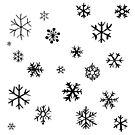 Snowflakes (black) by katherine montalto