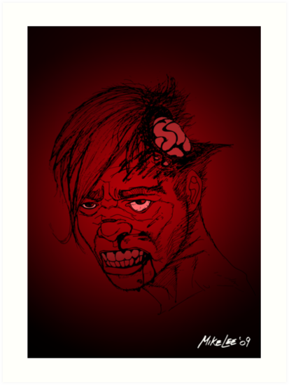 Even Zombies Have Bad Hair Days by Michael Lee