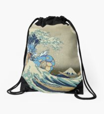 The Great Wave Off Gyarados Drawstring Bag