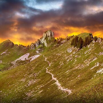mountains by fourretout