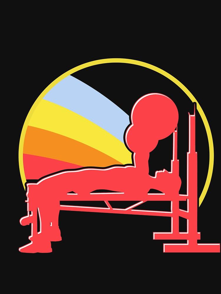 Bench press muscles by GeschenkIdee