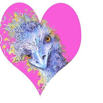 I'm Crazy For You! - Ostrich by MatsonArtDesign