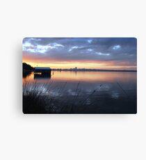 Crawley Boatshed by Sunrise Canvas Print