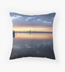 Crawley Boatshed by Sunrise Throw Pillow
