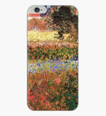 Flowering Garden. Vintage floral garden oil painting by Vincent van Gogh. iPhone Case