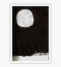 Small Town Moon Sticker