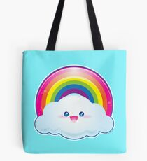 Kawaii Shiny Rainbow Tote Bag