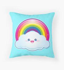 Kawaii Shiny Rainbow Throw Pillow