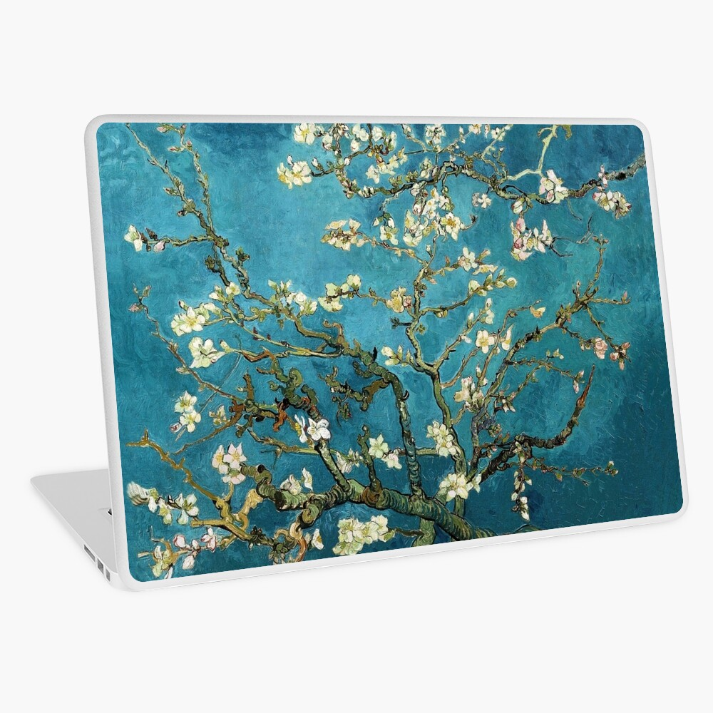 Blossoming Almond Tree, Vincent van Gogh.  Laptop Skin
