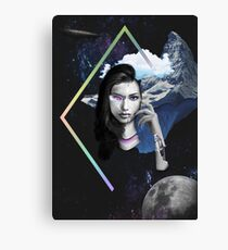Abstract Robot Space Girl Photo Mashup Collage Canvas Print