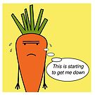 Kevin the Carrot depressed by Edward Picot
