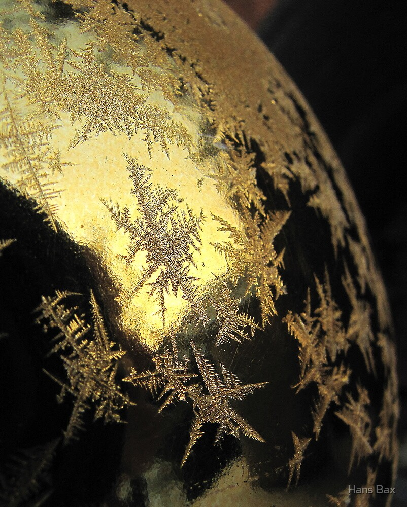 Ice Stars on Christmas Balls  by Hans Bax