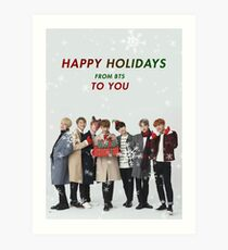 BTS Holiday Greeting Card Art Print