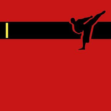 Taekwondo Stripes Black Belt 1st Dan by sher00