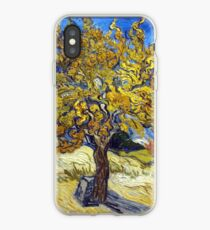 Van Gogh's Famous oil painting, The Mulberry Tree. iPhone-Hülle & Cover