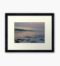 Sea Foam Framed Print