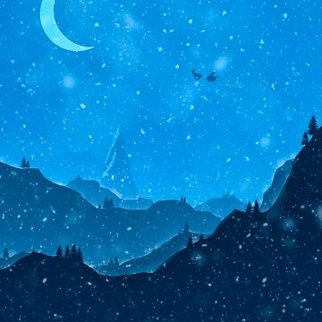 Santa flying over snowy Landscape by TheBSF