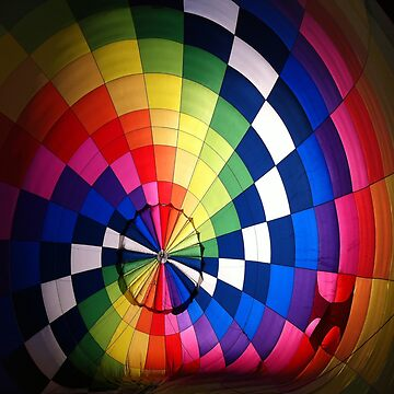 Rainbow Square Parachute Colors by FrancisDigital