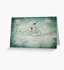 In the pursuit of happiness Greeting Card