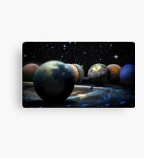 Planetary Pool Canvas Print