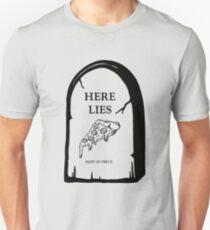 Here Lies Pizza  [ Light Shirts ] Unisex T-Shirt