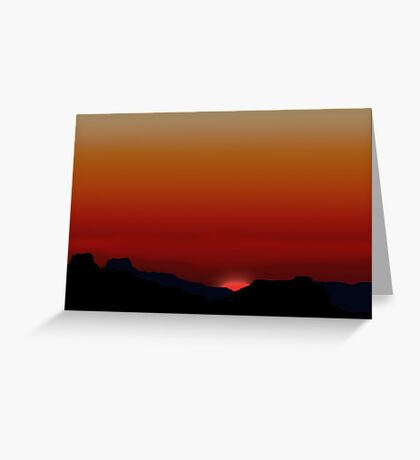 Beautiful sunset illustration Greeting Card